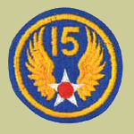 15th Army Air Forces WW2 Patch